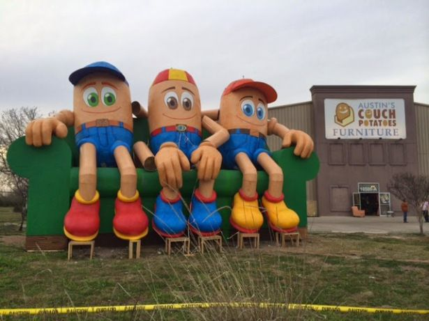 Austin Furniture Stores Austin Couch Potatoes Furniture Giants Potato  Dolls Green Giant