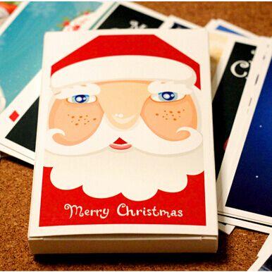 Дешевое 30 шт./лот бесплатная доставка рождественские открытки с рождеством с! в штучной упаковке открытки коллекция / альбом подарков, Купить Качество Поздравительные открытки непосредственно из китайских фирмах-поставщиках:                    Один лот = один пакет = 30 шт. = 30 листов                                            Размер: 9