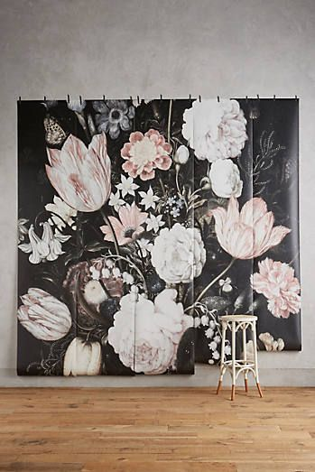 Fleurir mural anthrohome anthropologie mural for Anthropologie wallpaper mural