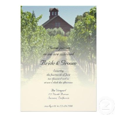 Vineyard and Red Barn Wedding Invitation Vineyard and Red Barn Wedding Invitation