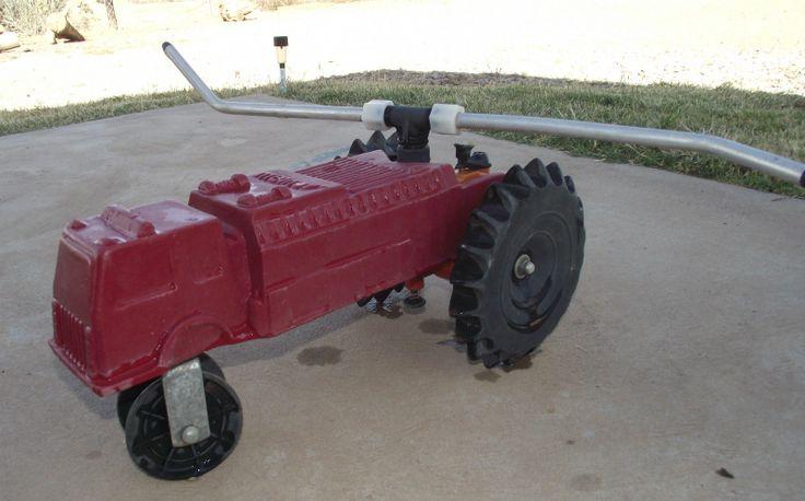 Tractor Sprinkler Shut Off : Vintage melnor fire truck traveling sprinkler garden