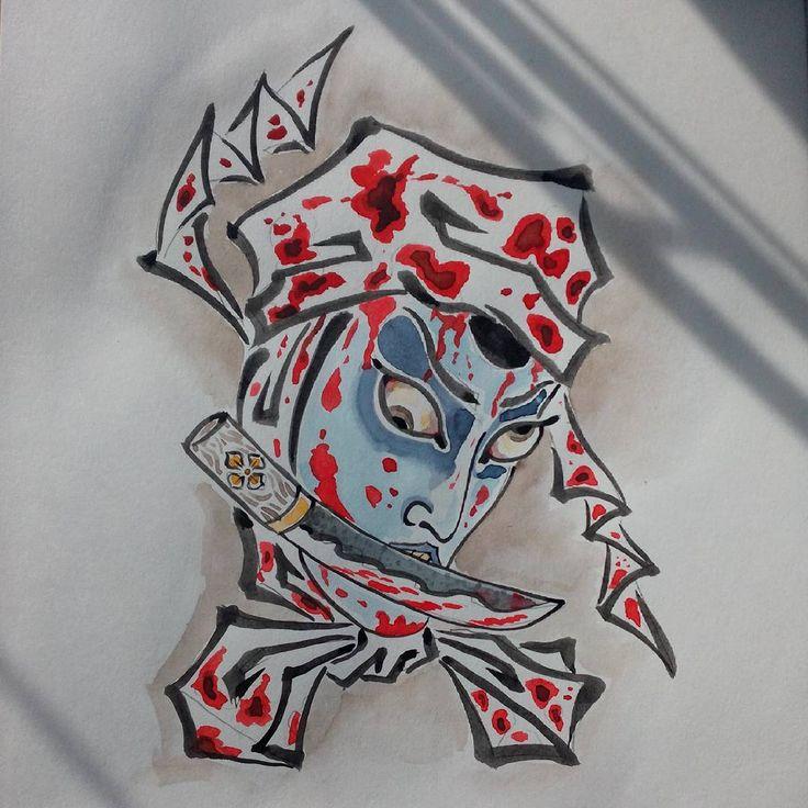 #namakubi #japanesetattoo #tattooscetch #tattoo #tattooartist #tattoo_cult #татуировка #намакуби #татуировщик #тату