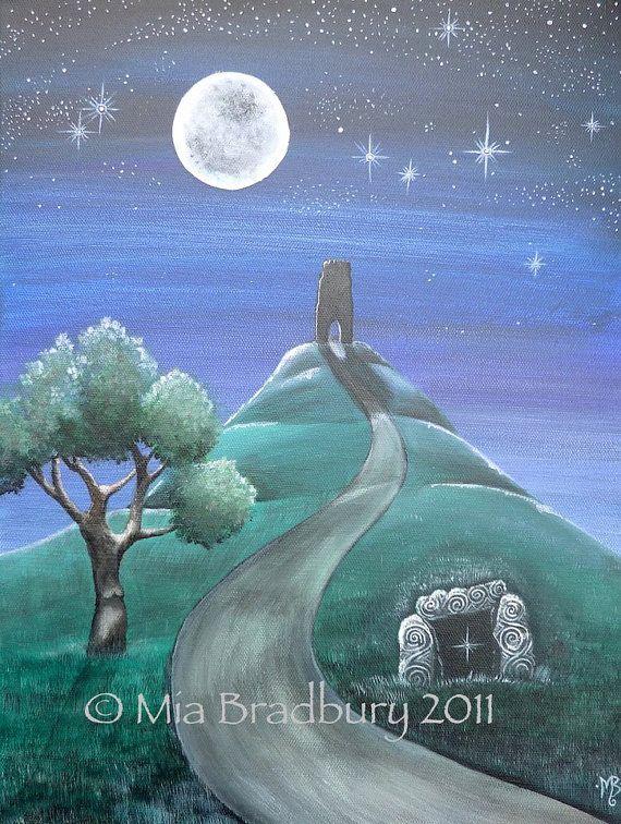 Moonlight Journey Greetings Card by MiaBradburyArt on Etsy, £1.95