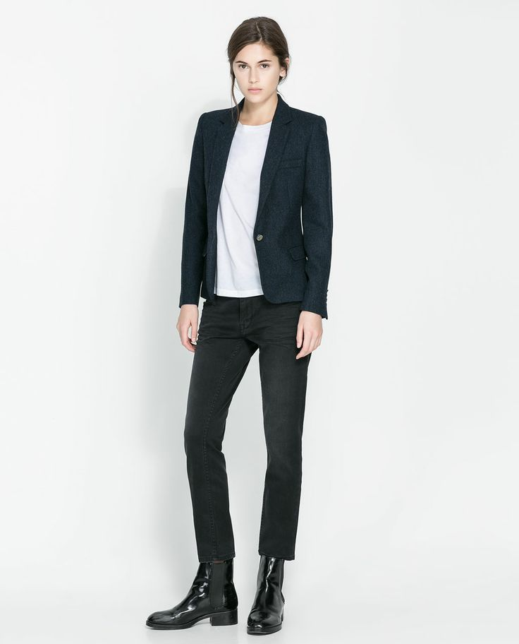 Image 1 of WOOLLEN BLAZER WITH ELBOW PATCHES from Zara $89.99