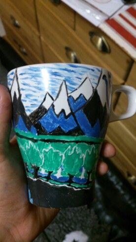 The Hobbit book cover mug