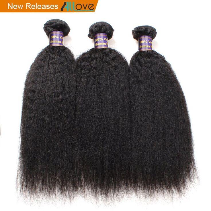 Allove Peruvian Yaki Straight Human Hair Weave Bun…