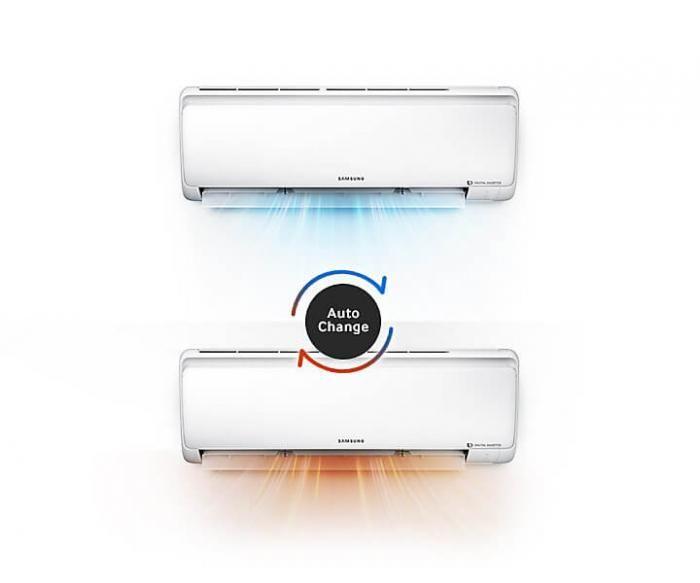Aparatul de aer conditionat SAMSUNG functioneaza inteligent si economiseste energie. Contine un invertor inteligent digital cu 8-Pole, eficient energetic ce mentine temperatura dorita fara a opri si porni aparatul in mod frecvent. Acest aparat de aer conditionat are capacitatea de racire de 12000 BTU.