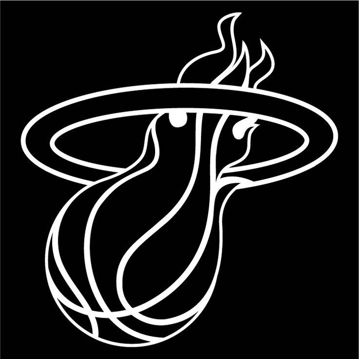 miami heat black logo eric pinterest