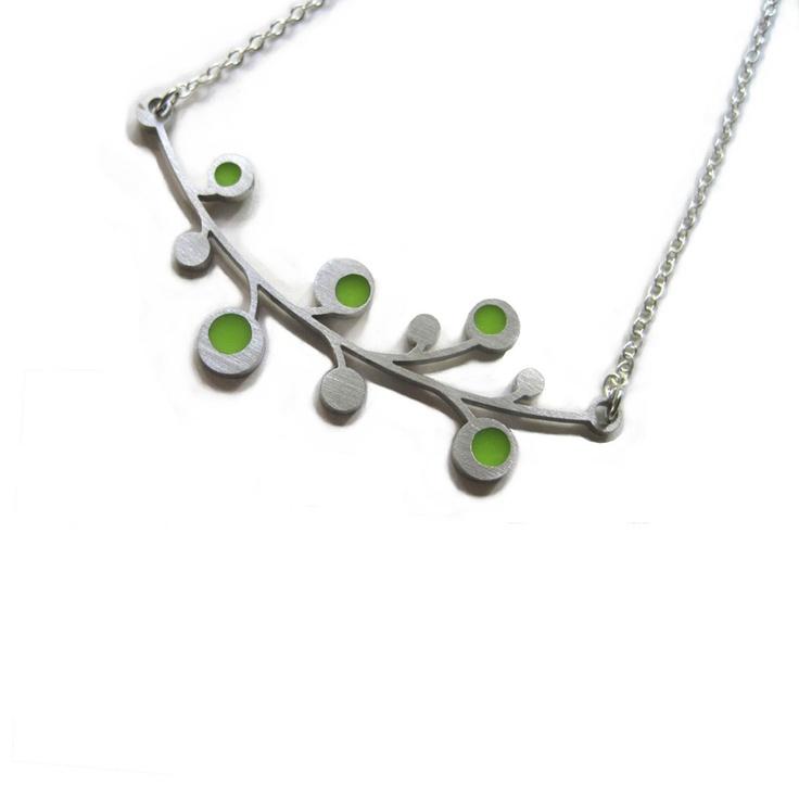 Snowberry Necklace by Spark Metal Studio