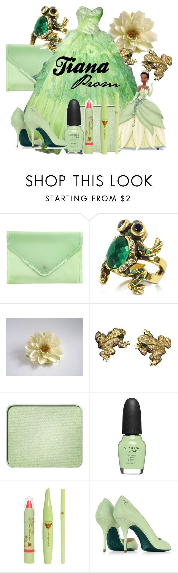 """""""Tiana Prom"""" by amarie104 ❤ liked on Polyvore featuring BCBGeneration, Alcozer & J, Buccellati, shu uemura, Sephora Collection, Pixi and Patrizia Pepe"""