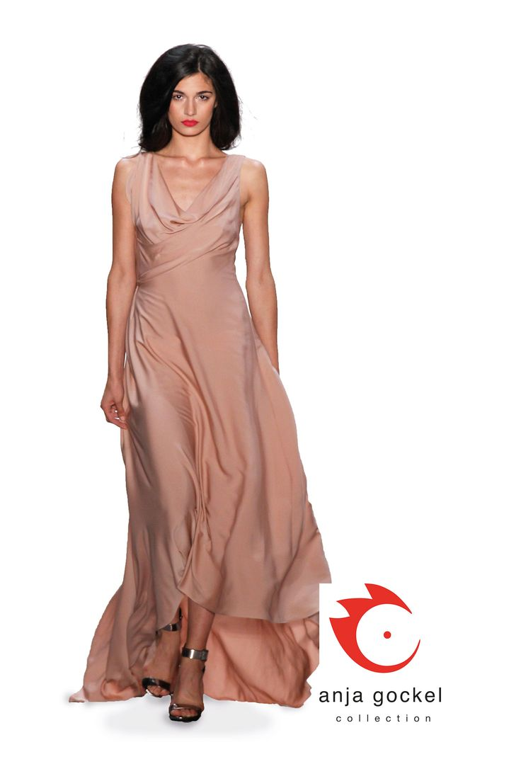 A wonderful floating dreamy evening dress made from luxurious silk.