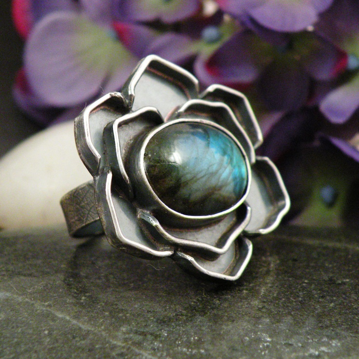 Ring | BellaBijouJewellery Designs. Labradorite, Sterling Silver