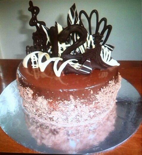 Triple Chocolate Ganache Cake made by Me