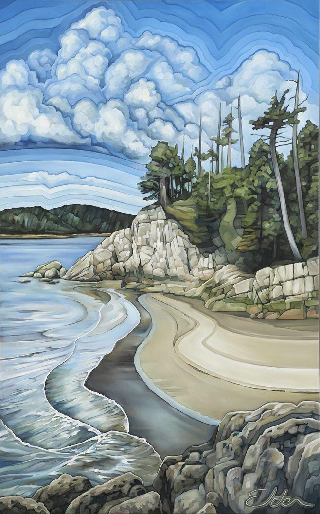 """""""Northern Beaches"""". Oil on Canvas. 2013. 30""""x48"""". Collin Elder. www.collinelder.com"""
