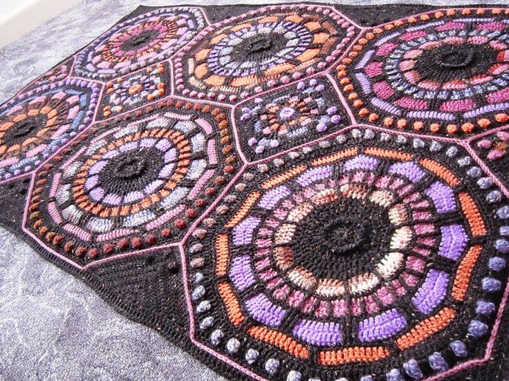 70 best CAL Summer Mosaic Afghan images on Pinterest   Mosaik ...