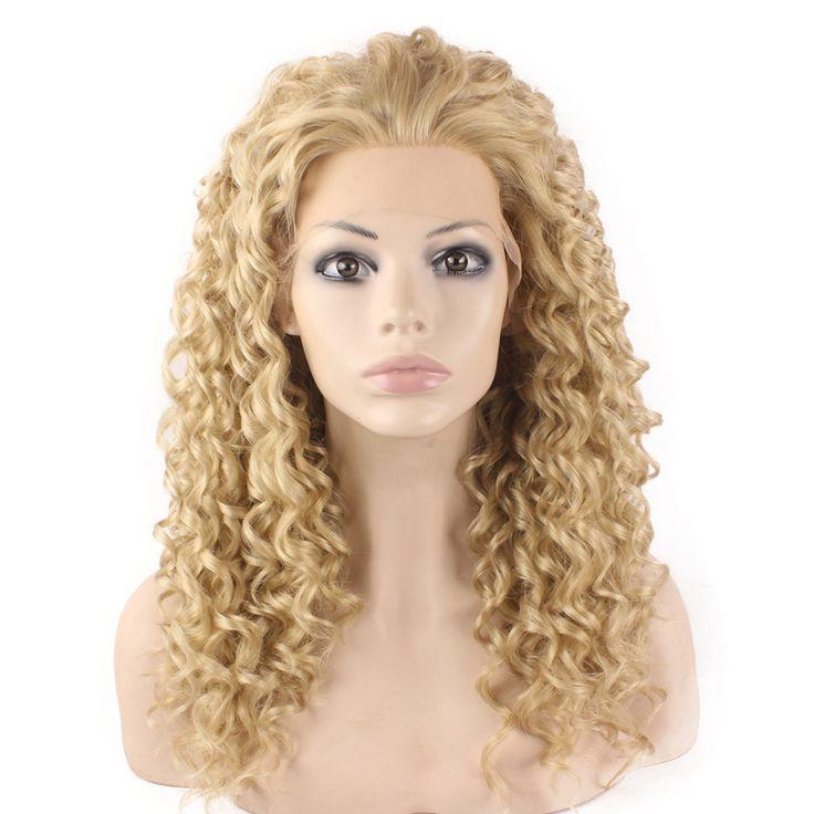 F16 средней длины вьющиеся эш светлые жаропрочных волос знаменитости перед синтетические волосы парик натуральный