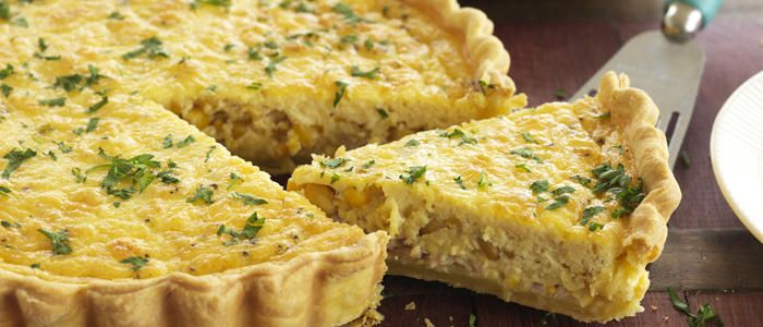 Café-style Corn & Bacon Quiche