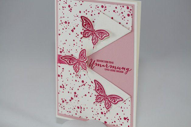 """Grußkarte """"Schmetterlinge"""" - Best of Butterflies - Gorgeous Grunge - Schmetterlingsgruß - Stampin Up - Aelidan bei DaWanda"""