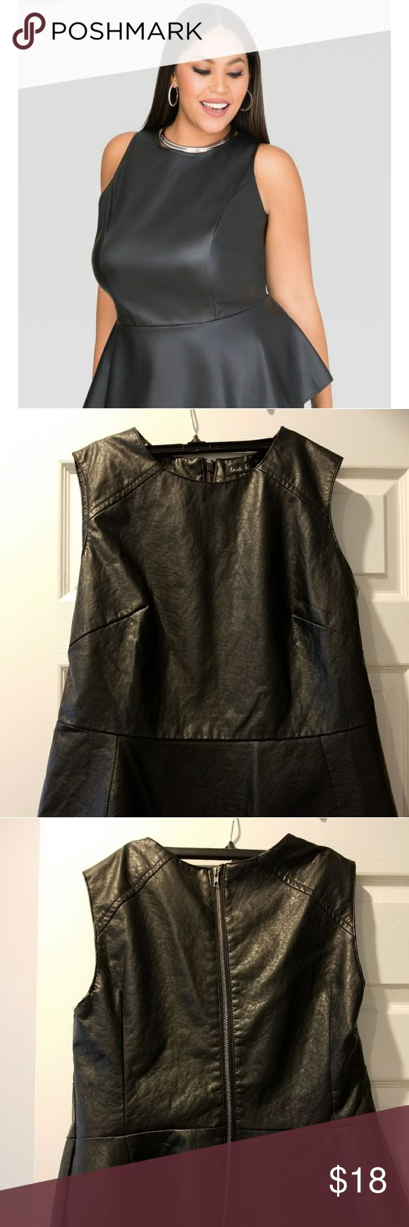 Peplum top Stunning faux leather peplum top, great with jeans and heels. last kiss Tops