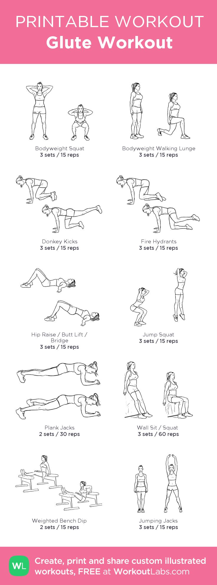Pin on Glute Workout