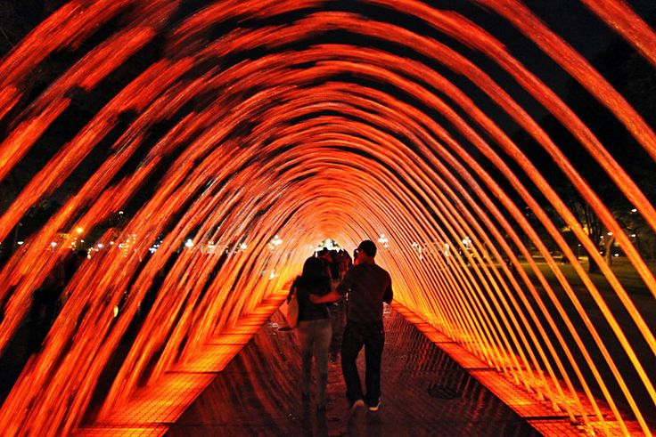 Water Archway at Parque de Agua in Lima, Peru