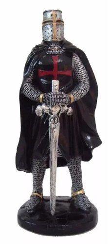 Guerreiro Cavaleiro Templario Medieval Estatuetas Resina