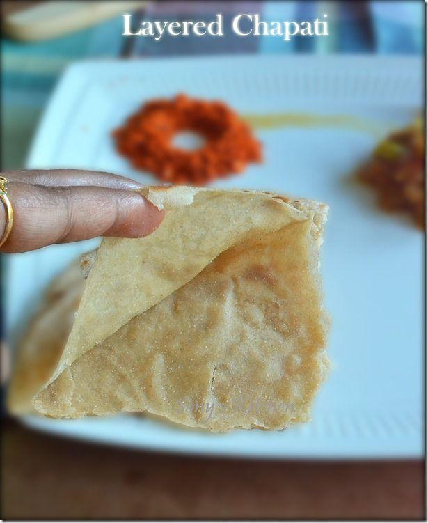 Layered Chapati – Ghadichi poli - How to make layered chapati/roti/poli/ghadichi poli–With Video