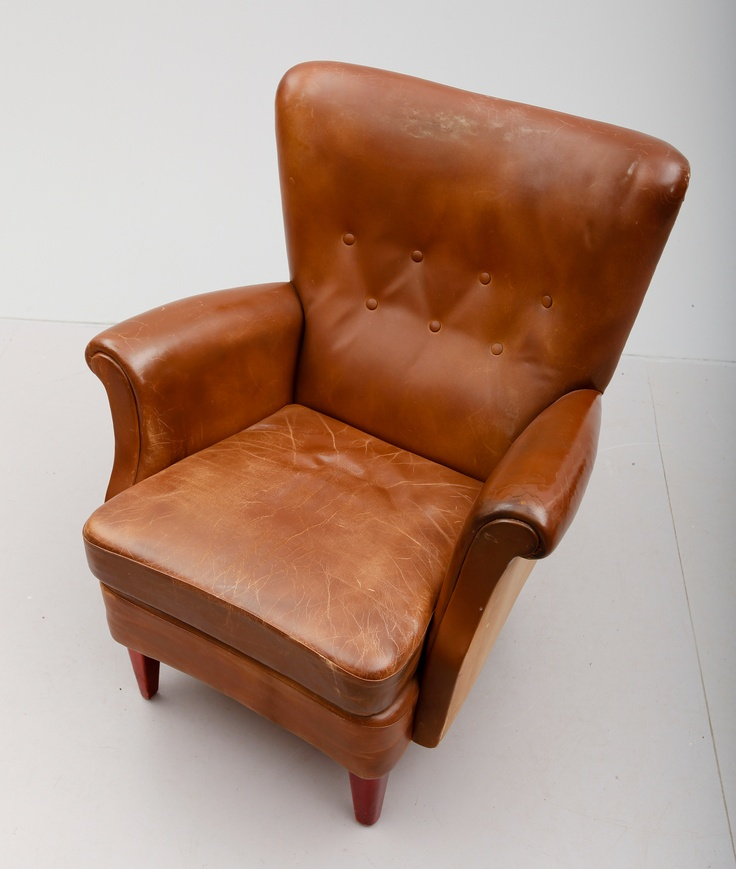 Leather Armchair The Mid 1900s Armchairs In Leather