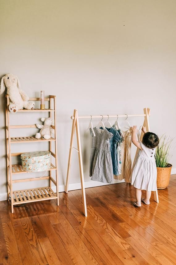 Mini Clothing Rackchildrens Clothing Rack Wooden Dress Etsy In 2020 Clothing Rack Dress Rack Kids Clothing Rack