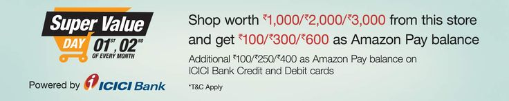 Amazon Super Value Day - Upto Rs.1000 Cashback on Grocery & Daily Needs