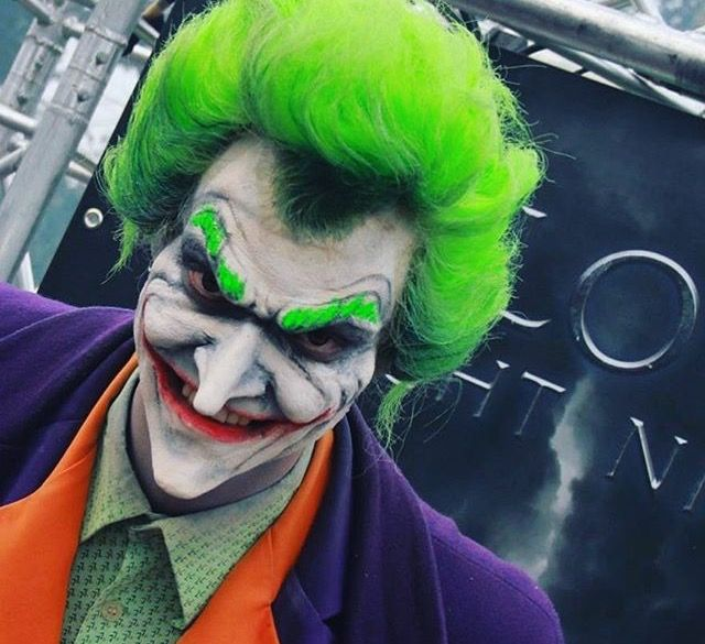 The Joker make-up by Victoria Boo for Walibi Halloween Fright Nights, foam appliances, wig
