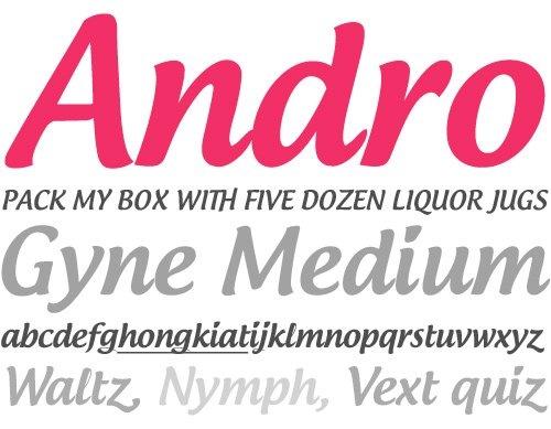 Androgyne - Free font