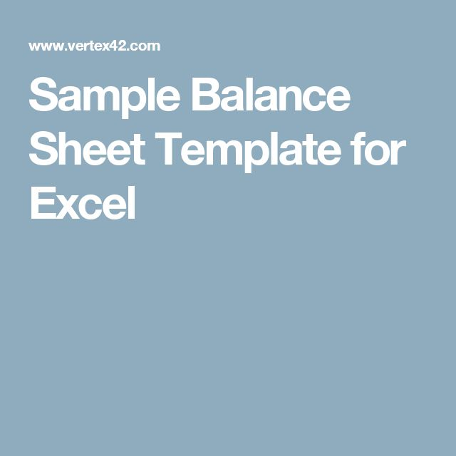 Sample Balance Sheet Template for Excel business prints - sample balance sheet template