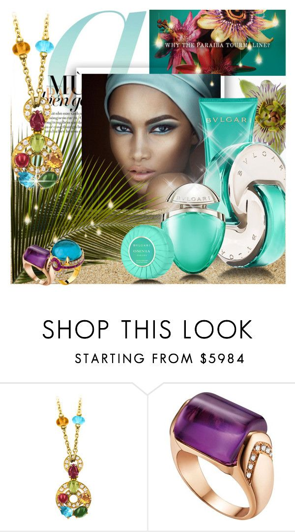 """Omnia Paraiba"" by lilith1521 ❤ liked on Polyvore featuring beauty, Bulgari, aqua, bvlgari, omnia, fallscent and paraibaomnia"