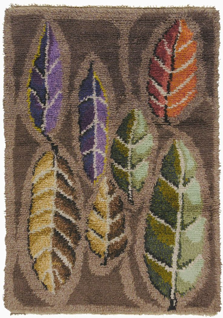 Anonymous; Wool Rya Rug, 1950s.