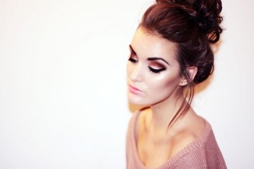 love the eye brows, makeup, and even hair! Beautiful all around!