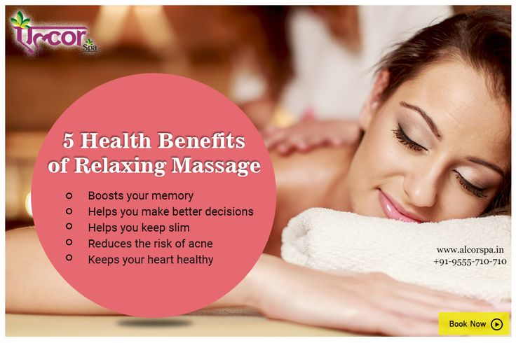 Did you know a relaxing massage has a lot of health benefits? #AlcorSpa #MassageBenefits #CalmYourMind #PamperYourself