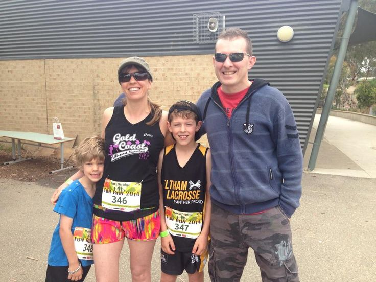 Family fun run this morning. Did 3km with the kids. Proud of my big lad who came second in is age. I paced the 6 year old then ran 14km home. Great day!