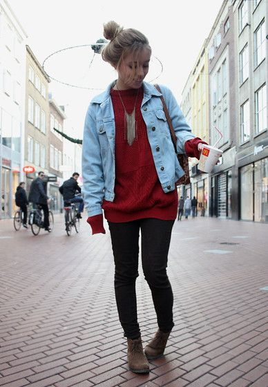 Sweater And Jean Jacket