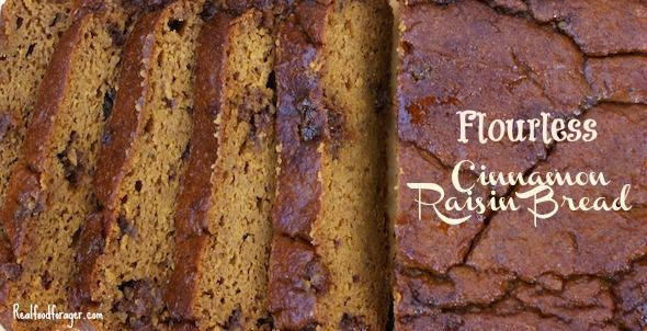 Flourless (made with squash puree) Cinnamon Raisin Bread (Paleo, GAPS)
