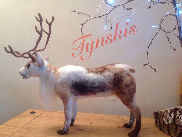 Needle felted reindeer by Janet nowotynski