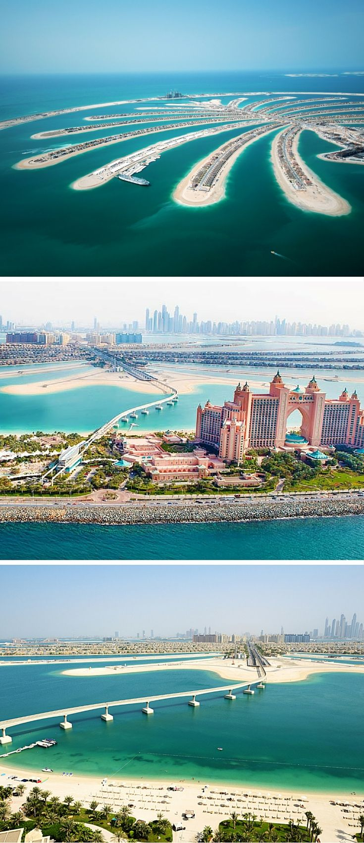 The man made Palm Islands in Dubai!! Incredible! See the top 10 things to do in Dubai on Avenly Lane Travel.