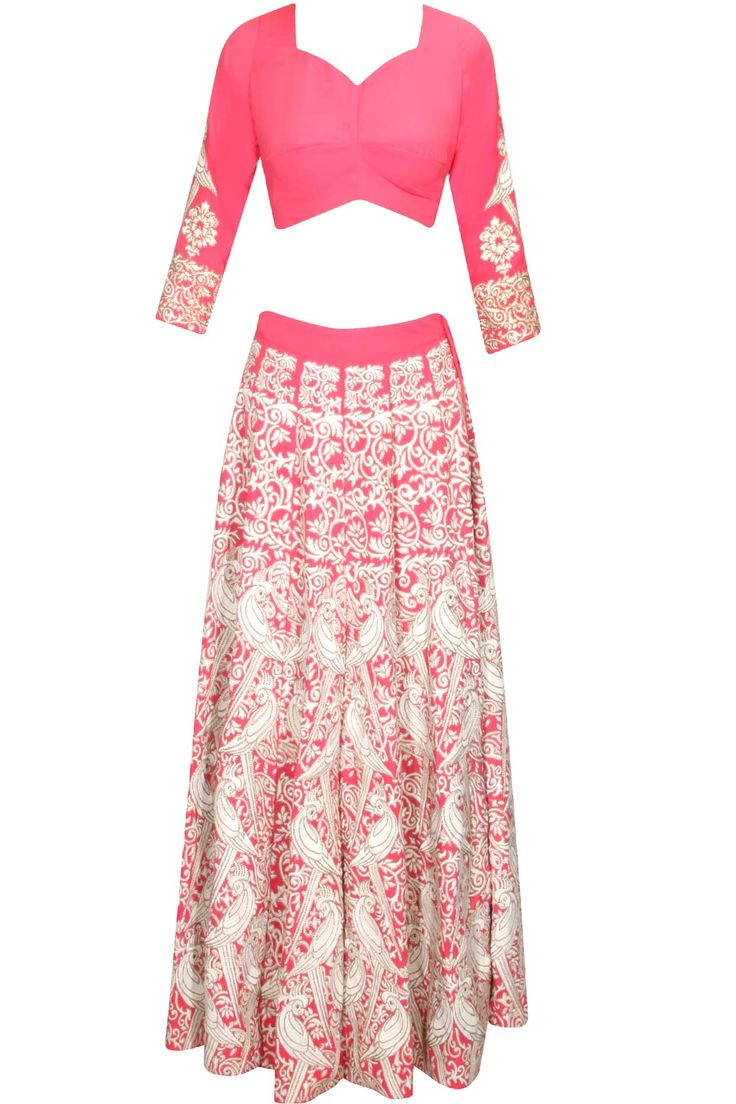 Pink mithu embroidered lehenga set available only at Pernia's Pop Up Shop.#perniaspopupshop #shopnow #clothing#festive #newcollection #surendribyyogeshchaudhary #happyshopping