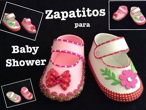 ZAPATITOS DE NIÑA PARA BABY SHOWER CON FOAMY O GOMA EVA . - YouTube