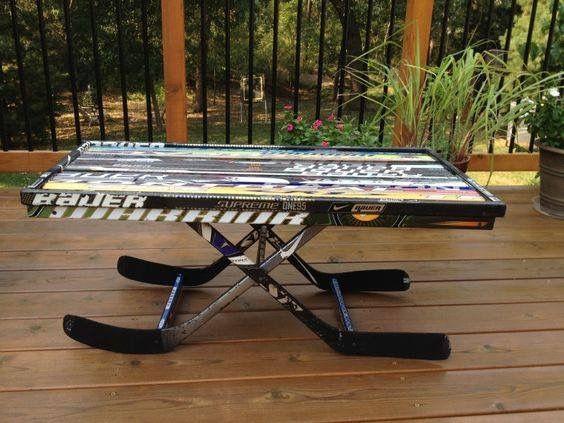 Hockey Stick Coffee Table
