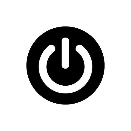 On/Off. Button.  logo idea-damask around