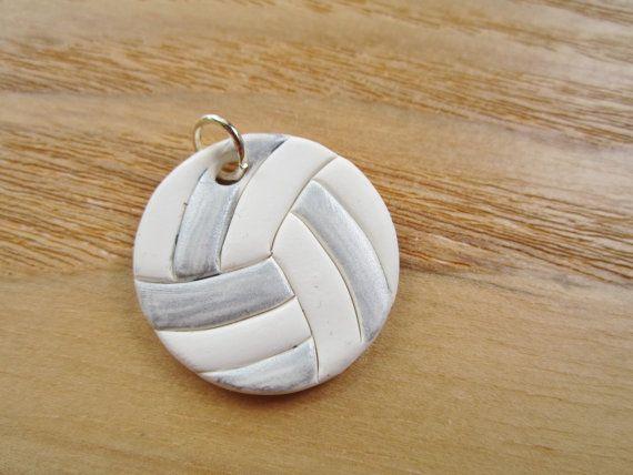 Sporty Girl Polymer Clay Charm Volleyball by JoyfulCreationsArt, $10.00