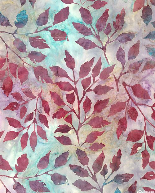 Grove 2 - Leaf Whisper Impressions Batik - Antique Violet