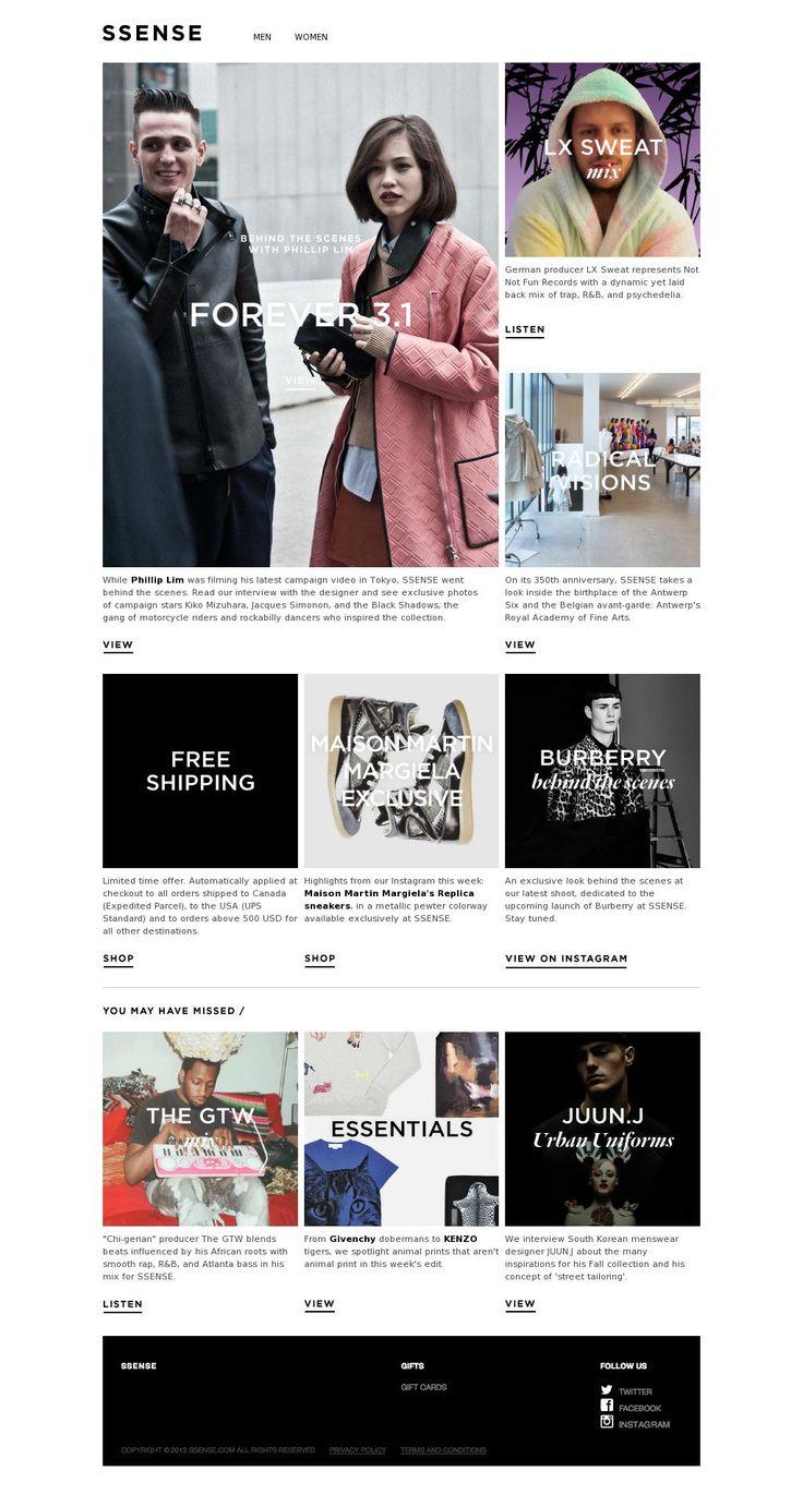 KDS Newsletters Design Board by SSENSE / Find us in www.kds.com.ar or Facebook/KDSARG and Twitter/KDSARG / Tags: #newsletter #design #inspiration