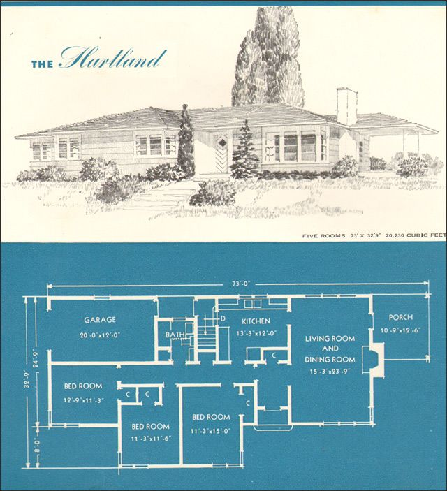 1945 New Era Houses The Hartland Vintage House Plans